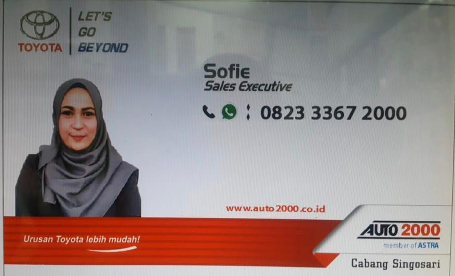 Sales Marketing Mobil Dealer Toyota Sofie