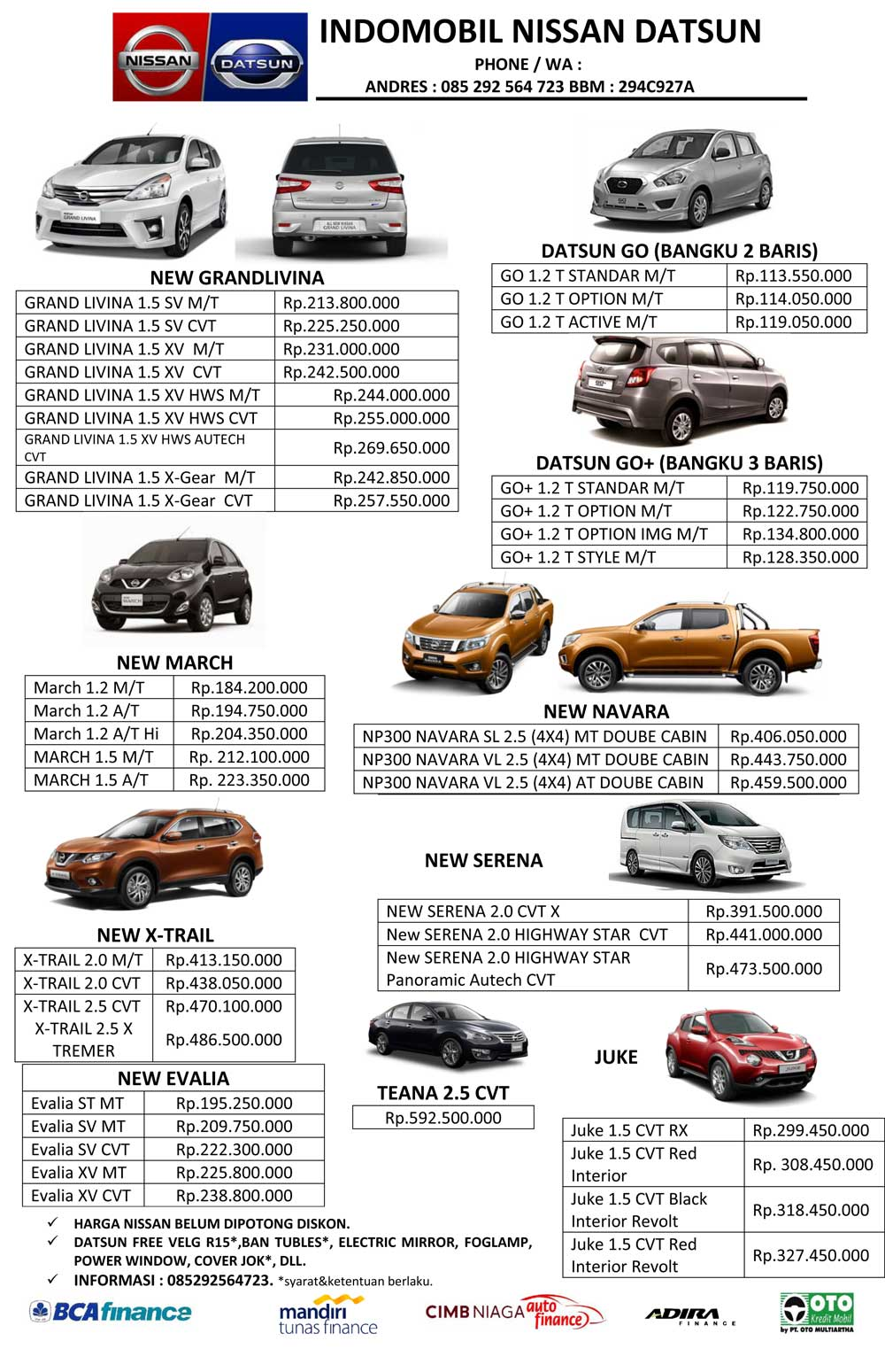 Harga Mobil Datsun 2017 By Andres
