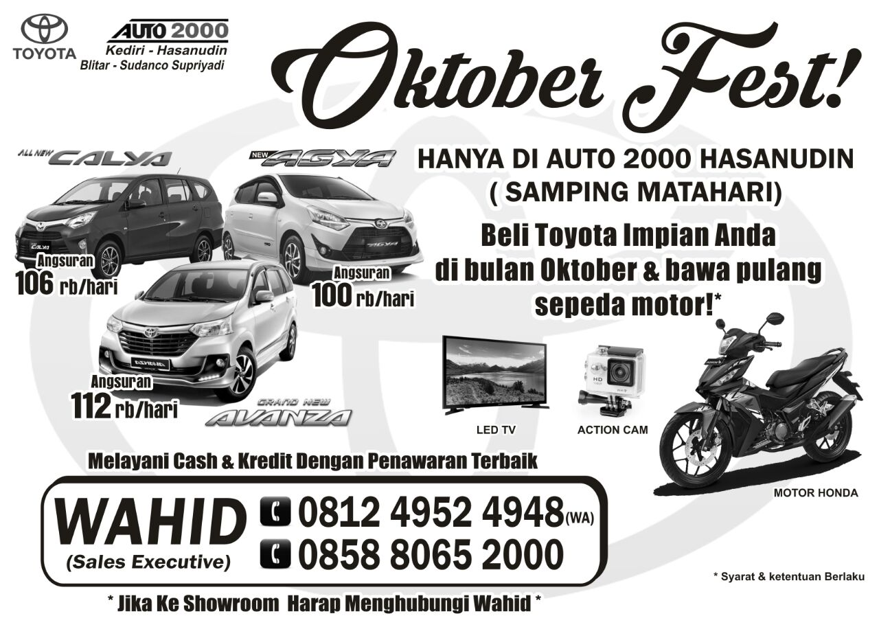 Promo Mobil Toyota By Wahid