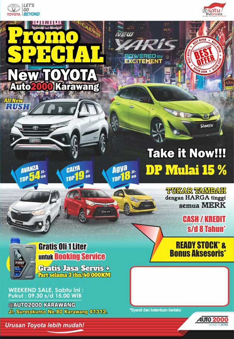 Promo Mobil Toyota By Aris