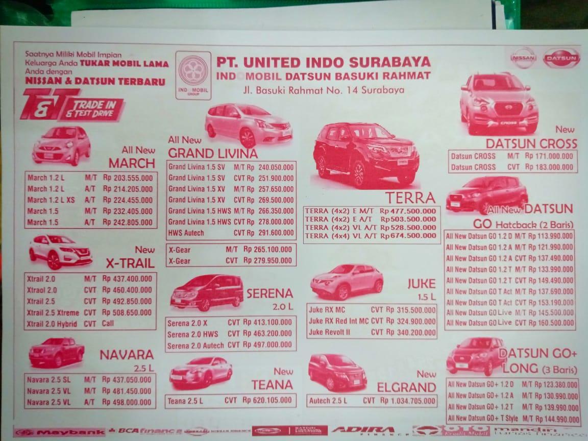 Harga Mobil Nissan By Niken