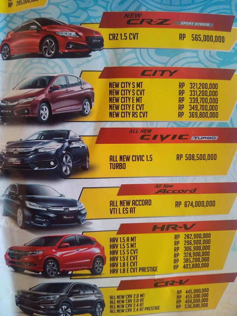 Harga Mobil Honda Pematang Siantar 2