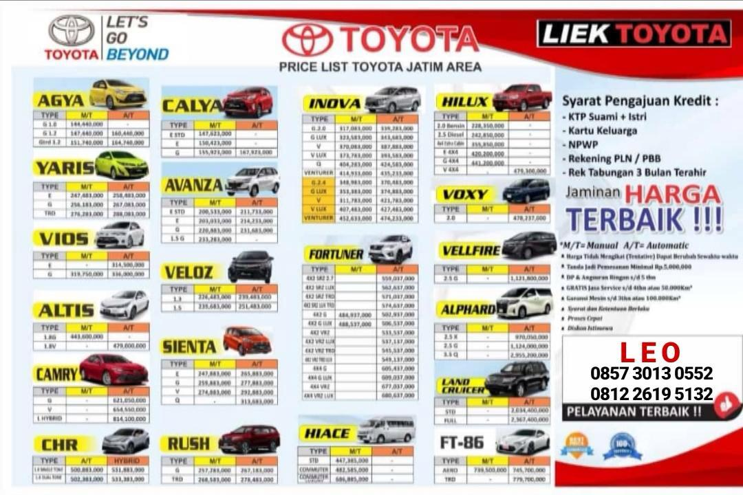 Harga Mobil Toyota By Leo