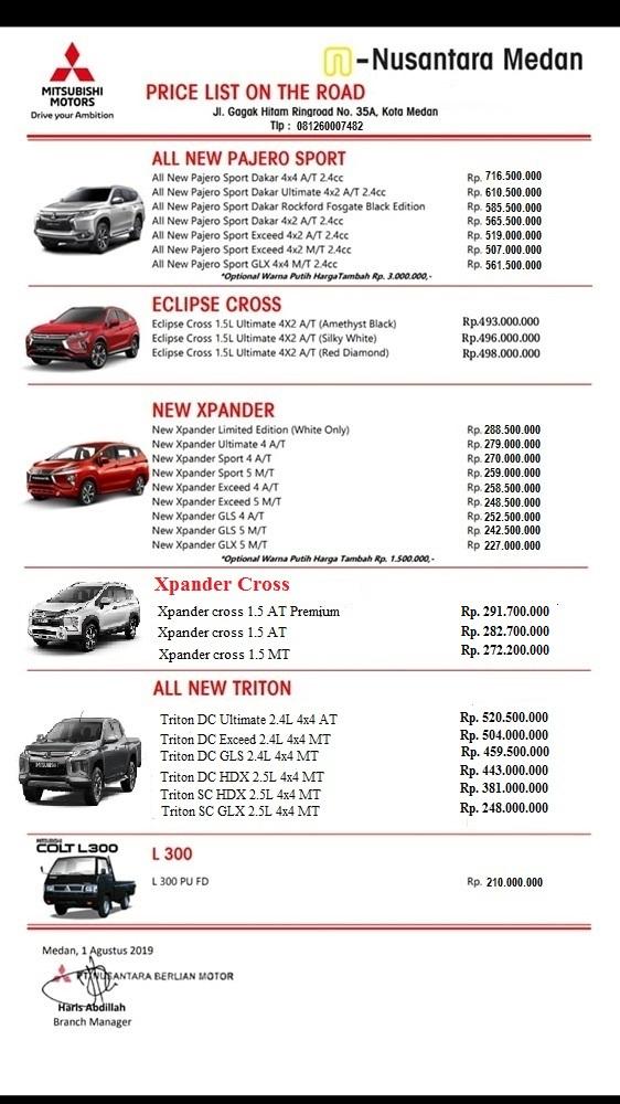 Sales Mitsubishi Medan Akhmad 0812 6000 7482 Wa Promo Termurah
