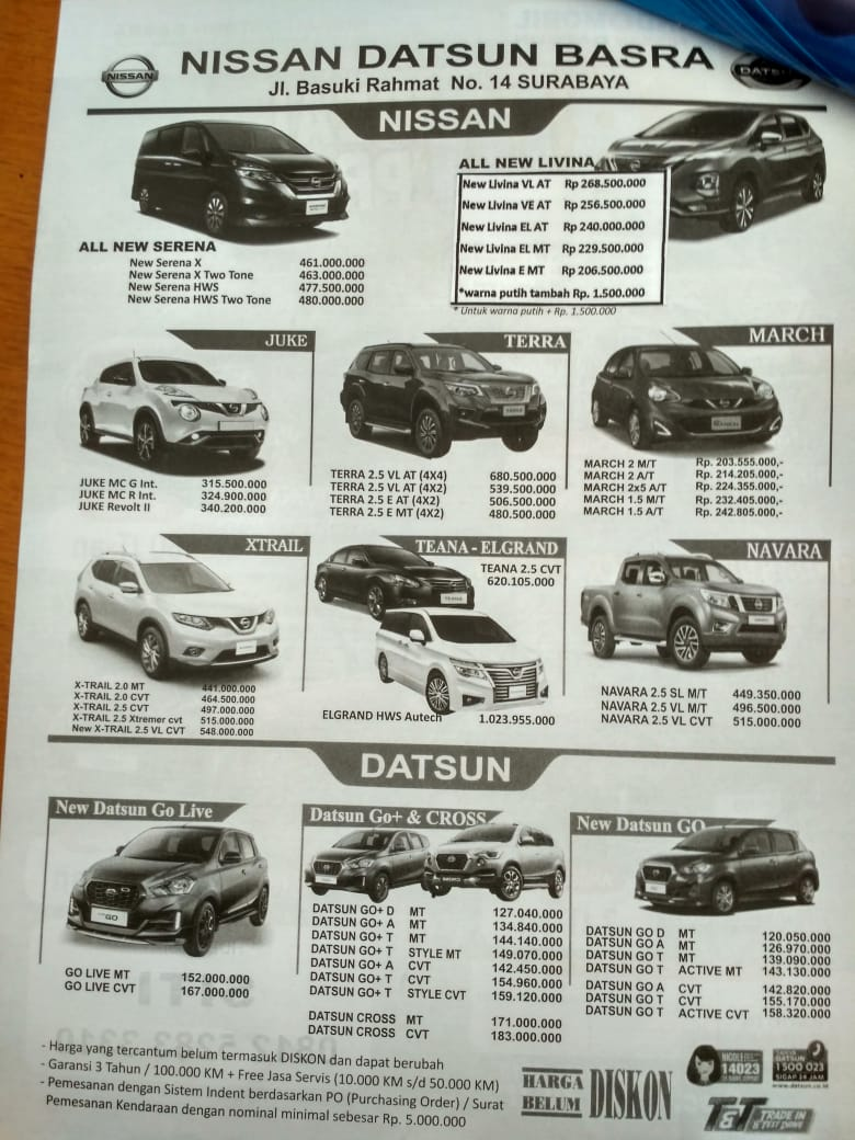 Harga Mobil Nissan Datsun By Siti